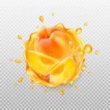 Peach juice. Stock Photo