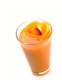 Peach juice splash Royalty Free Stock Photography
