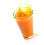 Peach juice splash Stock Photo