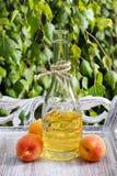 Peach juice Stock Photography