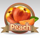 Peach label Stock Image