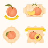 Peach labels and tags Royalty Free Stock Photos