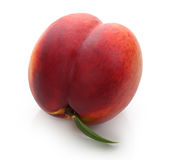 Peach with leaf Royalty Free Stock Photo