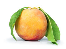 Peach and leaf Royalty Free Stock Photo