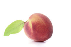 Peach with leaf Royalty Free Stock Photos