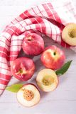 Peach and leaf Royalty Free Stock Image
