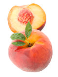 Peach with leaves Royalty Free Stock Images