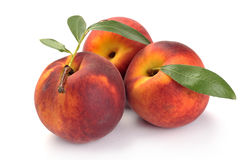Peach and leaves Royalty Free Stock Photo