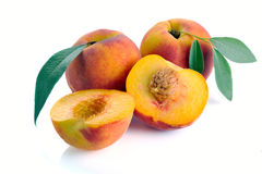 Peach and leaves Stock Image
