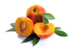 Peach and leaves Royalty Free Stock Images