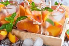 Peach lemonade Stock Photo