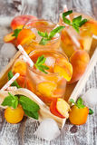 Peach lemonade Stock Photography