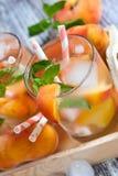 Peach lemonade Stock Photos