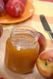 Peach light. Peach preserve,peach conserve and peach.Peach jam Royalty Free Stock Photo
