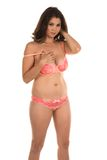 Peach lingerie Royalty Free Stock Photo