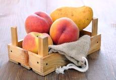 Peach and mango Stock Photos