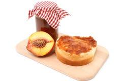 Peach marmalade Stock Image