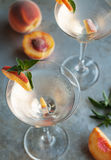 Peach Martinis Stock Photo