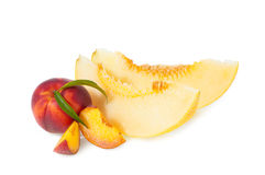 Peach and melon Stock Photo