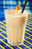 Peach milkshake Stock Photos