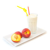 Peach milkshake Royalty Free Stock Photo