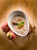 Peach mousse with cinnamon Stock Photography