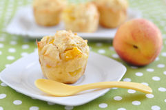Peach Muffins Royalty Free Stock Images