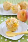 Peach Muffins Stock Photos