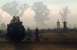 Peach Orchard Monuments, Gettysburg Stock Photography