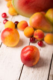 Peach and other fruits Royalty Free Stock Images