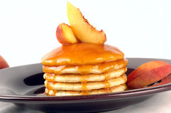 Peach Pancakes Royalty Free Stock Photos