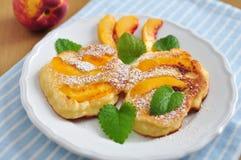 Peach Pancakes Royalty Free Stock Photo