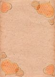Peach paper with pattern in form of retro hearts. Love. Valentine's Day Royalty Free Stock Photos
