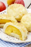 Peach in pastry, popular austrian dish Stock Image
