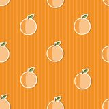 Peach pattern. Seamless texture with ripe peaches Royalty Free Stock Photography