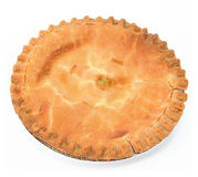 Peach Pie. On white background stock image