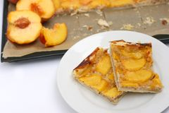 Peach pie Stock Photography