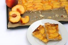 Peach pie Stock Image