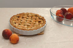 Peach Pie Stock Photo