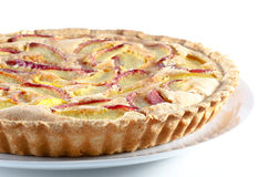 Peach pie isolated on white background Royalty Free Stock Photos