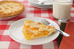 Peach pie with milk Stock Photography