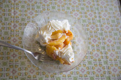 Peach Pie Stock Photo