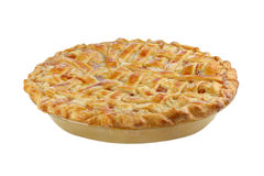 Peach Pie on White with Lattice Top Royalty Free Stock Image