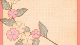Peach & Pink Flowers Background Stock Photos
