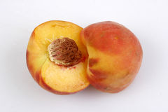 Peach Pit Fuzzy Fruit. Orange juicy Stock Photography