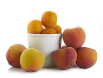 Peach and plum Stock Photography