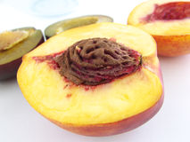 Peach and plum Royalty Free Stock Photos