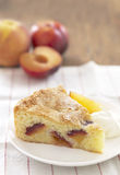 Peach and plum almond cake Stock Photography