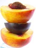 Peach+plum+peach Imagens de Stock Royalty Free