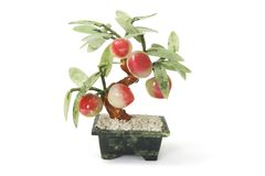Peach Pot Plant Ornament Stock Photos